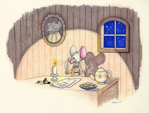 Mouse Writing by spiraln http://spiraln.deviantart.com/art/Mouse-Writing-8532726