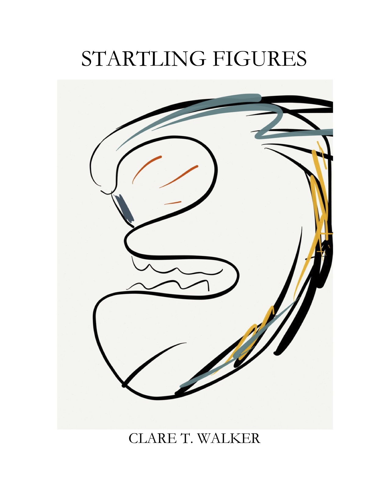 Clare's mock-up cover of Startling Figures