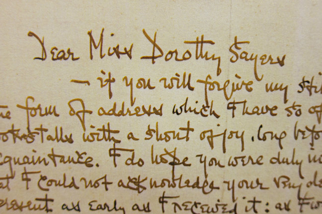 a letter to Dorothy L. Sayers, written by G.K. Chesterton