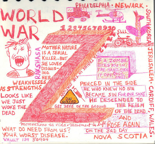 World War Z sketchnote scanned cropped and resized even smaller